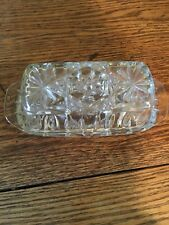 EAPG Star of David Covered Butter Dish Anchor Hocking