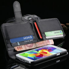 Folded Wallet PU Lather Case For Apple iPhone 6 6s Plus Samsung Galaxy S6 Edge