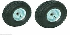 """Two (2) 10"""" 10 in. Haul-Master Pneumatic Tires on Zinc Wheels - 4.10/3.50-4 New"""
