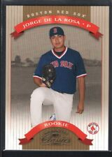 JORGE DE LA ROSA 2002 DONRUSS CLASSICS #132 RC ROOKIE RED SOX SP #0543/1500