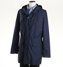 NWT $1695 LUCIANO BARBERA Weather-Repellent Tech Wool Hooded Jacket M (Eu 50)