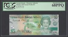 Cayman Islands 5 Dollars 2010 P39a Uncirculated Graded 68