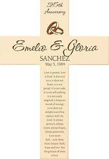 Personalized Laser Engraved Wood Cross, Wedding & Anniversary, 1 Corinthians 13