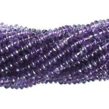 Amethyst Plain Rondelle Beads 4-6mm Purple 100+ Pcs Handcut Gemstones Jewellery