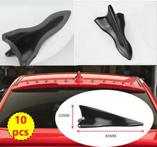EVO style For Gloss Black 10pcs Shark Fin Vortex Generator Spoiler Tip B