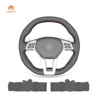 PU Leather Steering Wheel Cover for Mercedes-Benz C-CLaas CLA CLS GLA SLK SL AMG