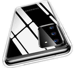 For Samsung A51 S20fe A10 A12 A21s Phone Case Full Body Slim Clear TPU Gel Cover