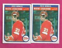 2 X 1982-83 OPC # 93 WINGS MARK OSBORNE  ROOKIE NRMT+ CARD (INV# C2576)