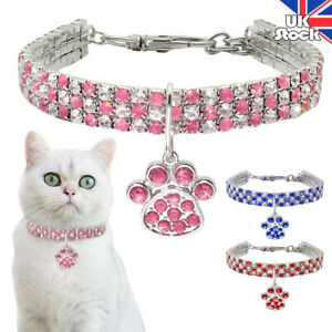Rhinestone Dog Collar Necklace Lead Bow For Doggie Puppy Cat Small Pet Accessory