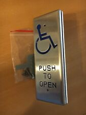 "Aa-3 Narrow All-Active ""Push To Open"" Handicap Switch"