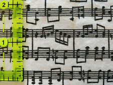 Lot 1317 Fabric, Half Yard, Sheet Music, Looks Like Quilting Cotton