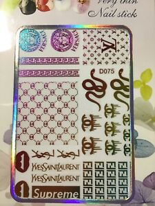 162.    Nail Art Stickers decal design Adhesive  DIY Decoration
