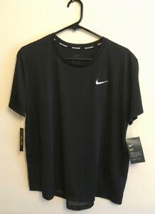 BNWT NIKE Ladies Dri Fit Running top Size XL, Black