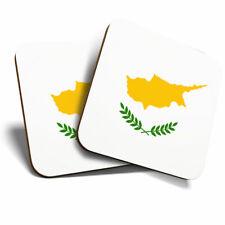 2 x Coasters - Cyprus Nicosia National Flag Home Gift #9154