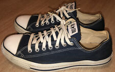 Vintage 90s Converse Chuck Taylor Shoes Blue Low Top 11.5 USA MADE