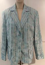 **REDUCED** Preloved - Basler Blue & Brown Mixed Print Jacket - Sz 20