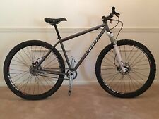 NINER SIR 9 single speed steel mountain bike 29 geared tubeless reba rlt large
