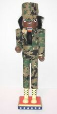 African American Camo Soldier Nutcracker 14.96 inches New