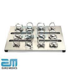 Presa de goma dental restaurador Pinzas Conjunto de 5 instrumentos fórceps de laboratorio Endodoncia