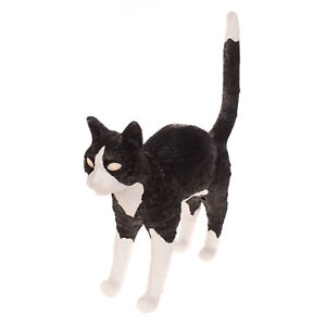 RRP €250 SELETTI Jobby The Cat Black & White Lamp Dimmable Rechargeable
