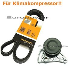 V-ribbed belts + Tension pulley AUDI A4 A6 1.9 TDI For Air conditioning New