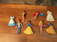 Disney Princess Little Kingdom Figure Lot Prince Charming, Belle, Ariel Mattel