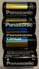 4 Panasonic CR123 Lithium Batteries CR123A 123 3V BULK Expires 2026