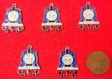 """""A Set of 5 X Thomas The Tank Engine Silver Tone Enamel Charm Pendants (F3)"""""