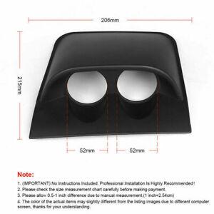 """2""""/52mm Car Dual Dash Gauge Meter Pod Black 2 Hole Dashboard Mount Holder Pod"""
