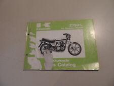 Parts catalog list KAWASAKI Z750 L1  Teile Ersatzteil Katalog 11.1980