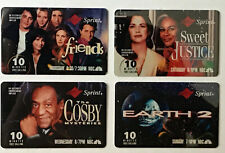 NBC Fall Lineup (1994) TEST Sprint phone cards (4) FRIENDS, Courteney Cox, Cosby