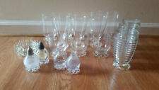 bead boopie bubble clear glasses 12, 10, 8, 6 oz salt pepper and 2 coasters