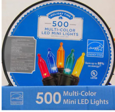 New Holiday Time Led Multi-Colored Lights, 500-Count Led Multi-color