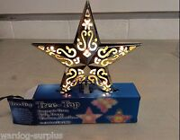 CHRISTMAS HOLIDAY TREE-TOP TOPPER SILVER LIGHT UP DECORATIVE INDOOR STAR USE NEW