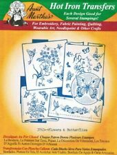 Flowers & Butterflies Aunt Martha's Hot Iron Embroidery Transfer #3763