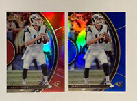 2017 JARED GOFF Select Prizm Blue #/149 and Prizm Red #/99 (non rookie card)
