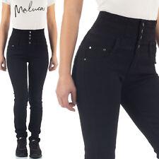 Malucas Damen High Waist Jeans Skinny Hose Hoher Bund Röhrenjeans Röhrenhose