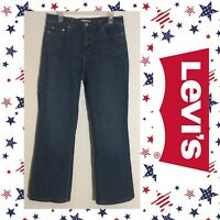 Women's Levi's 512 Perfectly Slimming Boot Cut Blue Jeans Size 14 Short