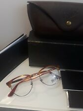 Persol 8129-V Terra di Siena Eyeglasses Brown Silver 96 Authentic 48mm brand new
