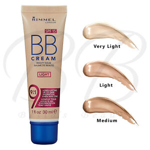 RIMMEL BB Cream 9-in-1 Lightweight Formula Brightening Effect SPF15 30ml *NEW*