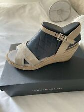 Brand New Ladies Tommy Hilfiger Wedge Sandals Shoes UK 4 Boxed
