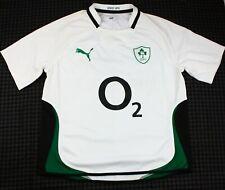 Puma IRFU Size XXL 2Xl Ireland Rugby Away Shirt Jersey White Green Black