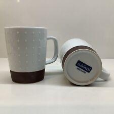 New listing (2) Saikai Porcelain Hobnail Mugs made  00006000 in Japan