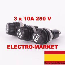 (3und)  portafusibles 5 x 20 mm portafusibles 10A fusible 250 V AC