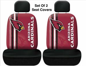 Arizona Cardinals NFL Printed Logo 2 Car Seat Covers