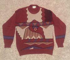 Vivaldi by Bombay Dyeing Men's Art Deco Ugly Italian Sweater Navy Club SZ 40