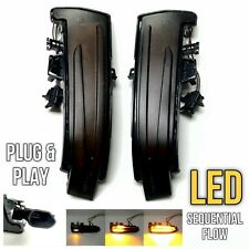 LED Amber Sequential Dynamic Smoked Side Mirror Signal Light For 15-19 X156 GLA