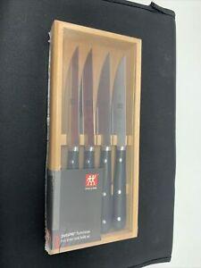 ZWILLING J.A. Henckels Porterhouse 4-pc Steak Knife Set in Beechwood Box - NEW