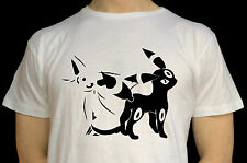 Pokemon T Shirt Espeon and Umbreon Pokemon Ultra Sun and Ultra Moon Nintendo
