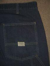 GAP Mechanic Dark Blue Denim Jeans 100% Cotton Mens Size 38 USA Made